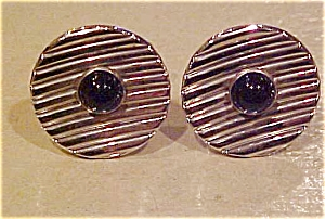 Spiedel cufflinks with blue glass (Image1)