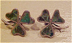 Sterling and green turquoise earrings (Image1)