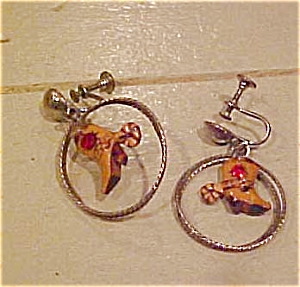 Cowboy boot & Lasso earrings (Image1)