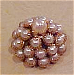 Faux pearl metal button (Image1)