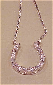 Sterling rhinestone horseshoe necklace (Image1)