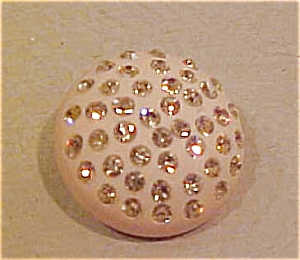 Plastic button with citrine rhinestones (Image1)