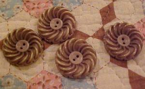 4 celluloid rope style buttons (Image1)