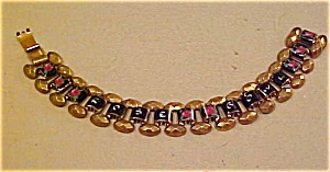 Enameled Rose Bowl bracelet (Image1)