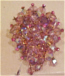 Lavendar glass bead pin (Image1)