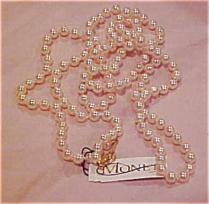 Monet pink faux pearl necklace (Image1)
