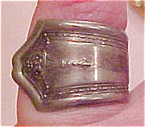 Silvertone spoon ring (Image1)