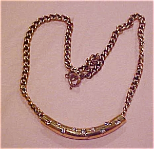 Goldtone necklace with rhinestones (Image1)
