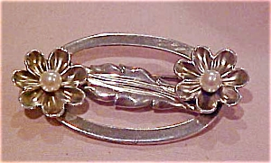 Sterling pin with faux pearl (Image1)