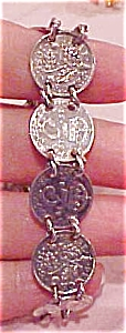 English three pence coin bracelet (Image1)