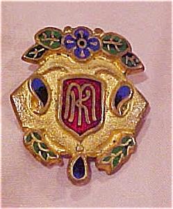 Art nouveau enameled pin (Image1)