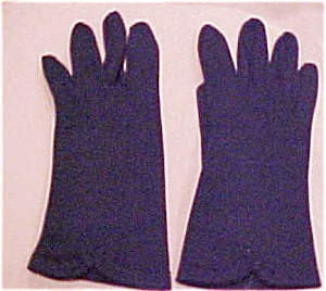Navy cloth gloves with bow accents (Image1)
