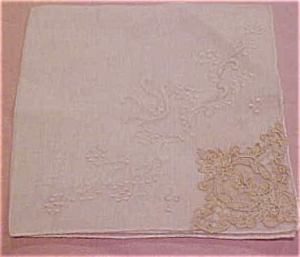 Handkerchief with lace trim (Image1)