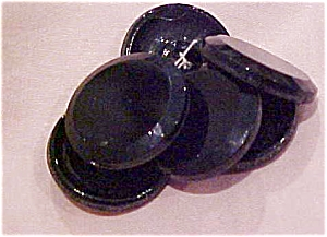 6 black glass buttons (Image1)
