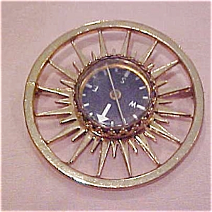 Gold filled compass brooch (Image1)