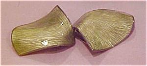 Sterling and enamel leaf brooch (Image1)