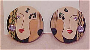 Fimo music design earrings (Image1)