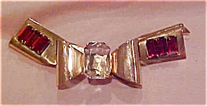 Retro bow pin with rhinestones (Image1)