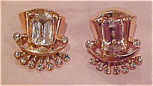Sterling vermeil rhinestone earrings (Image1)