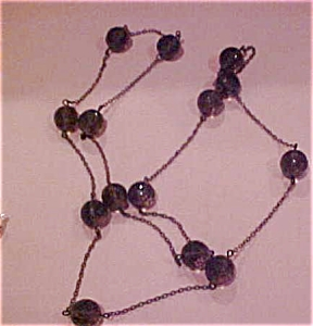 Czechoslovakian faceted glass necklace (Image1)