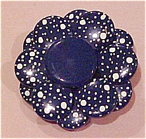 Blue metal flower pin (Image1)