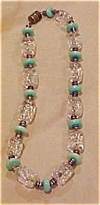 Czechoslovakian glass bead necklace (Image1)