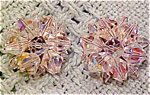 Faceted crystal bead earrings (Image1)
