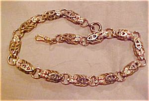 Two tone watch chain with leaf design (Image1)
