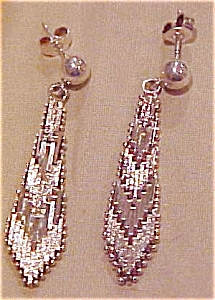 Sterling earrings with mesh design (Image1)