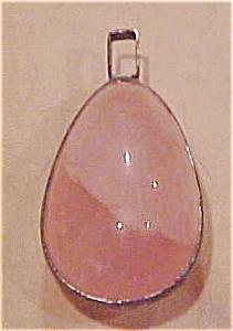 Pink Quartz pendant set in sterling (Image1)