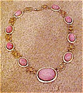 Czechoslovakian glass/enamel necklace (Image1)
