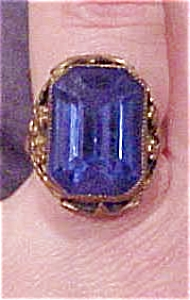 Czechoslovakian ring with blue glass (Image1)