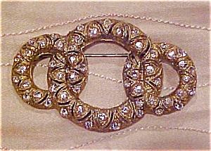 Brass and rhinestone pin (Image1)