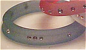 Frosted plastic bangle with rhinestones (Image1)