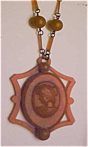 Celluloid locket on chain (Image1)