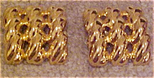 Goldtone rope design earrings (Image1)