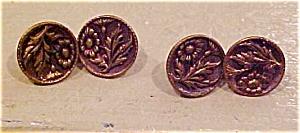 Floral design cufflinks (Image1)