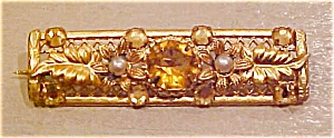 Czechoslovakian pin with rhinestones (Image1)
