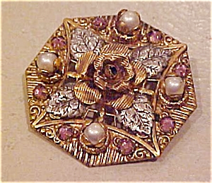 Czechslovakian floral design pin (Image1)