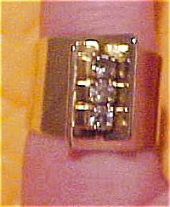 Karat Clad ring with rhinestones (Image1)