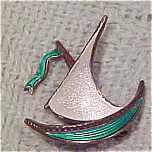 Sterling Norway sailboat brooch (Image1)
