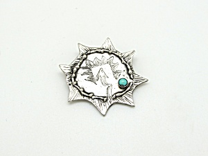 Native American Pin with Turquoise (Image1)
