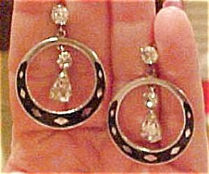 Enamel and rhinestone earrings (Image1)