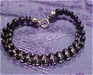 2 Strand plastic & rhinestone bracelet (Image1)