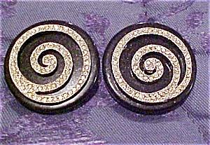 Les Benard plastic & rhinestone earrings (Image1)