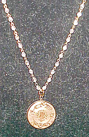 Locket on chain with crystal beads (Image1)