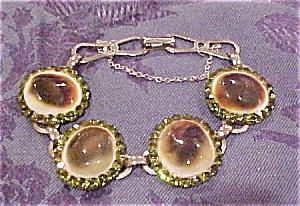 Abalone and rhinestone bracelet (Image1)