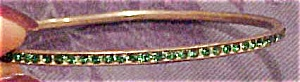 Sterling bangle with green rhinestones (Image1)