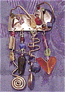 Modern pin with glass beads (Image1)