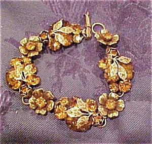 Coro bracelet with rhinestones (Image1)